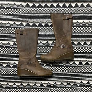 Keen Women's Brown Leather Knee High Boots